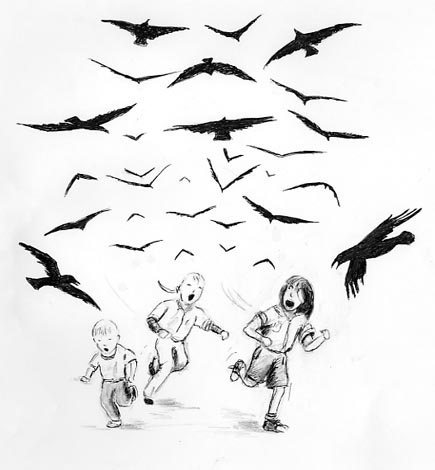 Scary Birds Drawing People Out About Birds